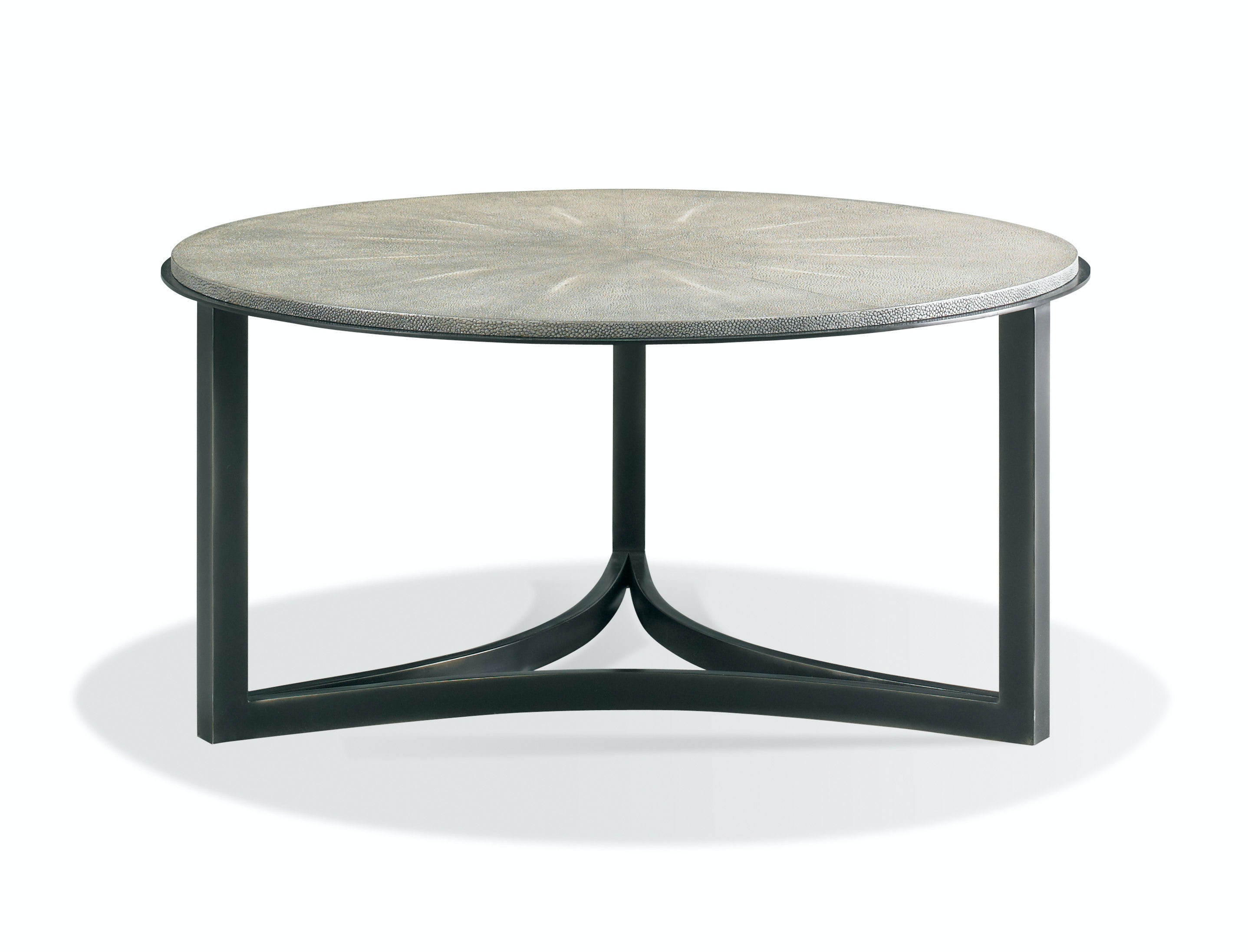 CTH Sherrill Occasional Niko Cocktail Table   Charcoal Shagreen CT368831  From Walter E. Smithe