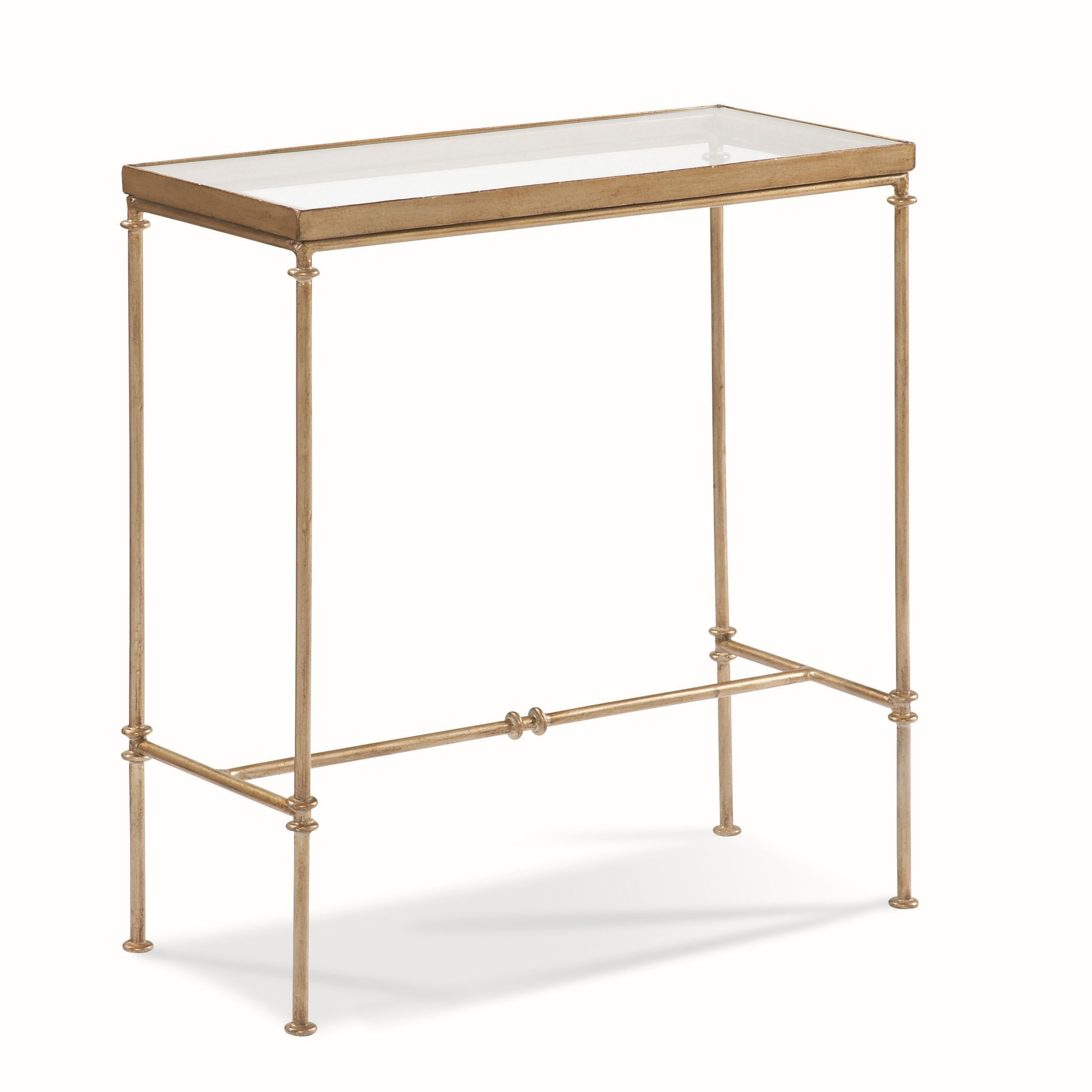 Cth Sherrill Occasional Living Room Glass Top Side Table 370 900
