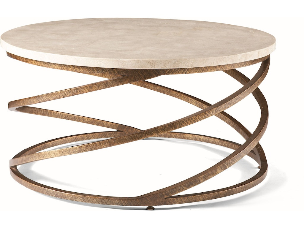 Cth sherrill occasional living room round cocktail table for 40 inch round coffee table