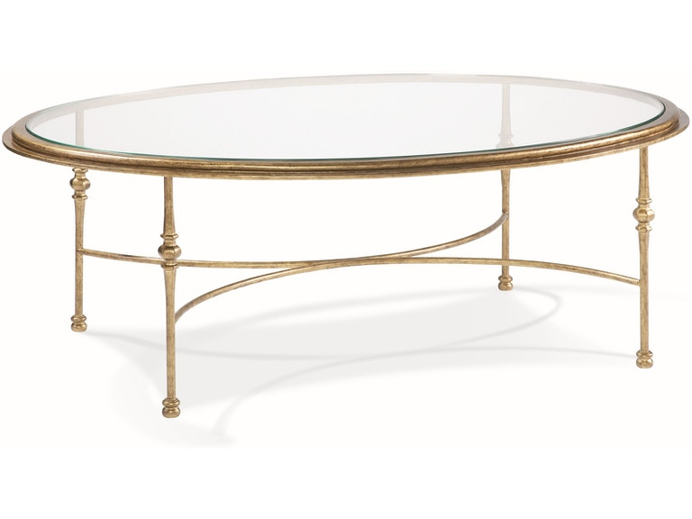 Cth Sherrill Occasional Living Room Oval Cocktail Table M29 22 Art Sample Furniture Saginaw Mi