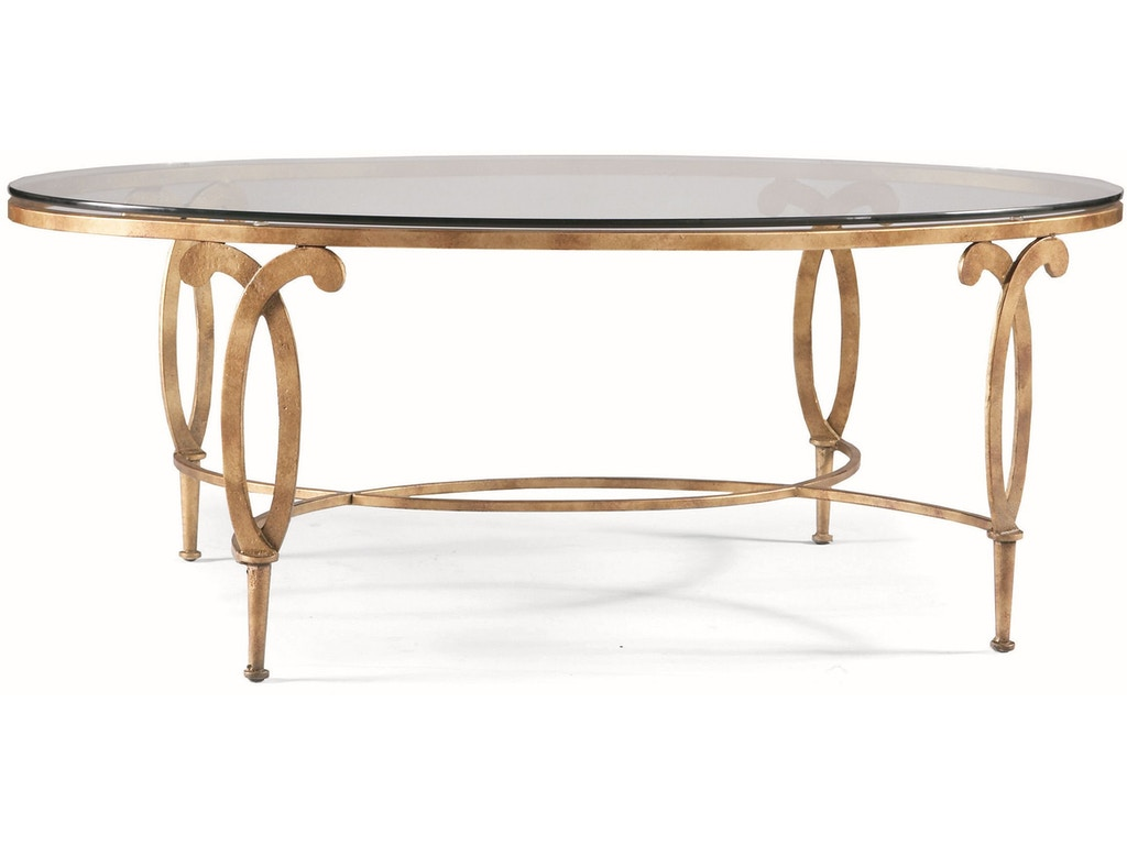 Cth Sherrill Occasional Living Room Oval Cocktail Table M68 22 Art Sample Furniture Saginaw Mi