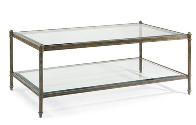 CTH Sherrill Occasional Glass Top Cocktail Table M97 40
