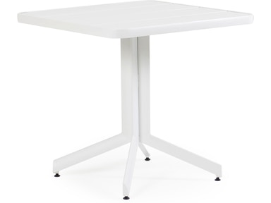 Watermark Living Outdoorpatio Square Dining Table Textured White