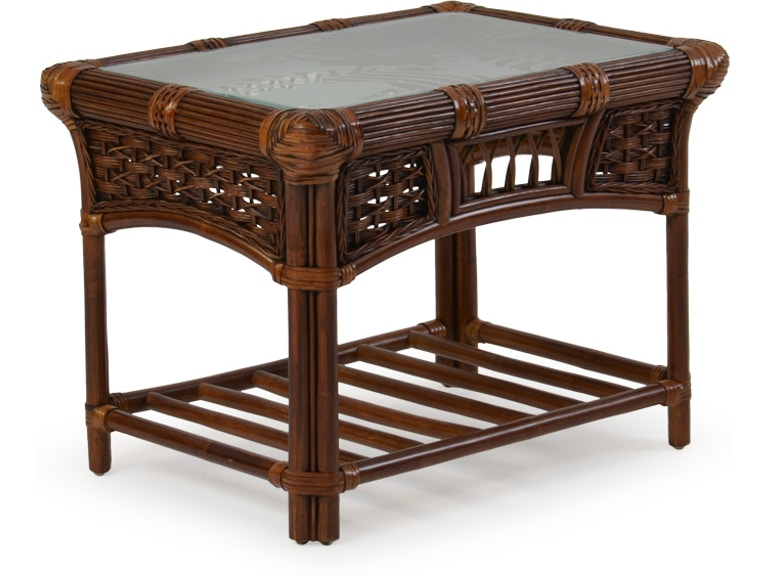 Watermark Living Rattan End Table Palm5420cb