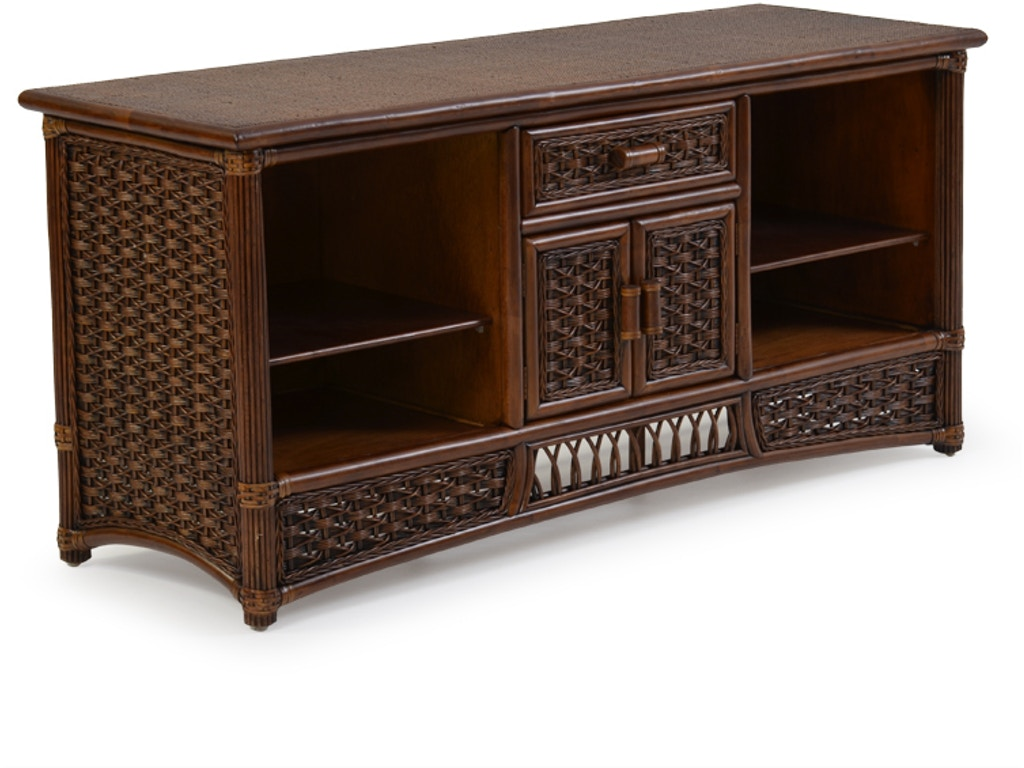 Palm Springs Rattan Home Entertainment Rattan Tv Stand Palm5471cb Shumake Furniture Decatur