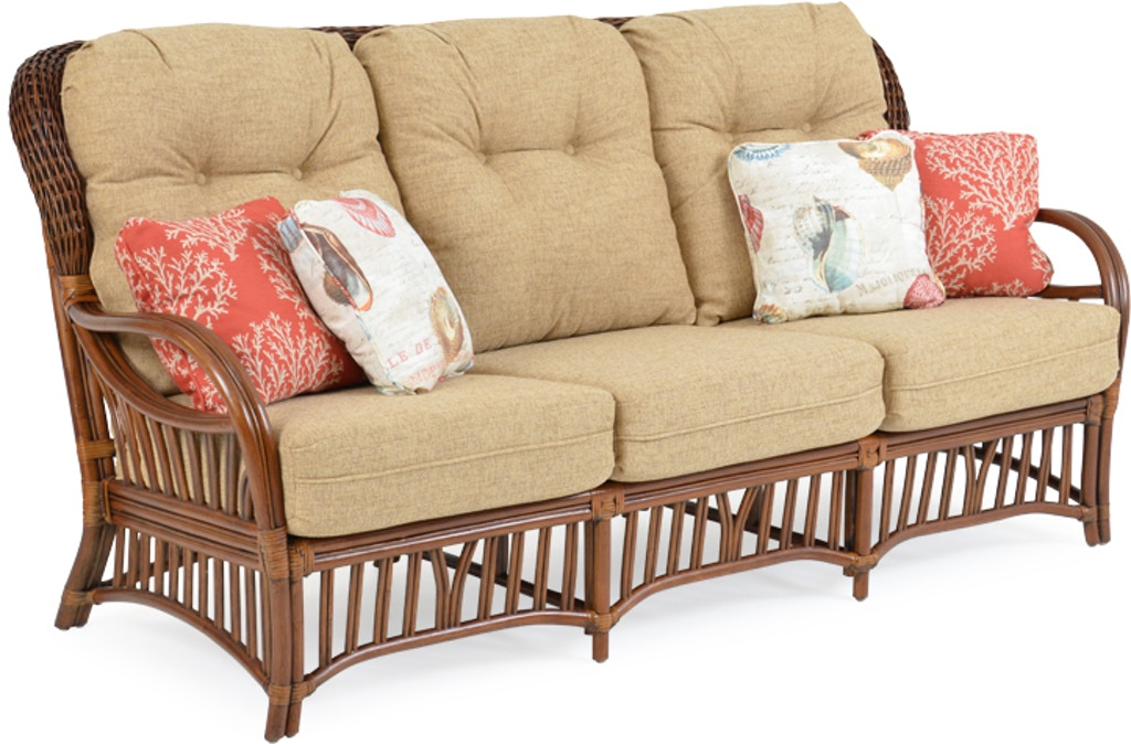 Watermark Living Living Room High Back Sofa - Pecan Glaze ...