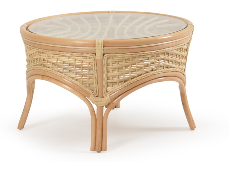 Watermark Living Rattan Round Tail Table Natural Palm5527na