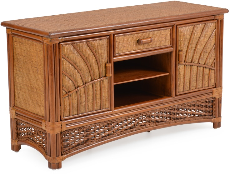 Palm Springs Rattan Home Entertainment Wicker Console Tv
