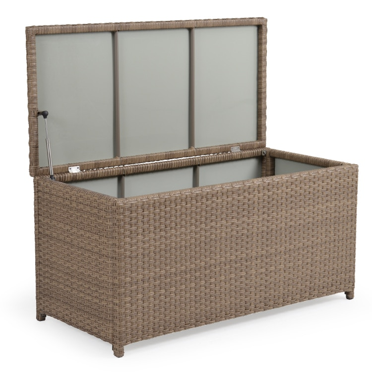 Watermark Living Outdoor Wicker Storage Trunk Oyster Grey GARD6085OG  sc 1 st  Outer Banks Furniture & Watermark Living Outdoor/Patio Outdoor Wicker Storage Trunk Oyster ...
