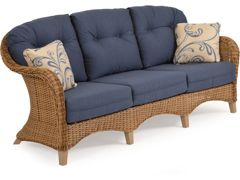 Watermark Living Outdoor Patio Sofa Nutmeg Weave Weathered Teak 651703ntm Wtk At High Point Furniture