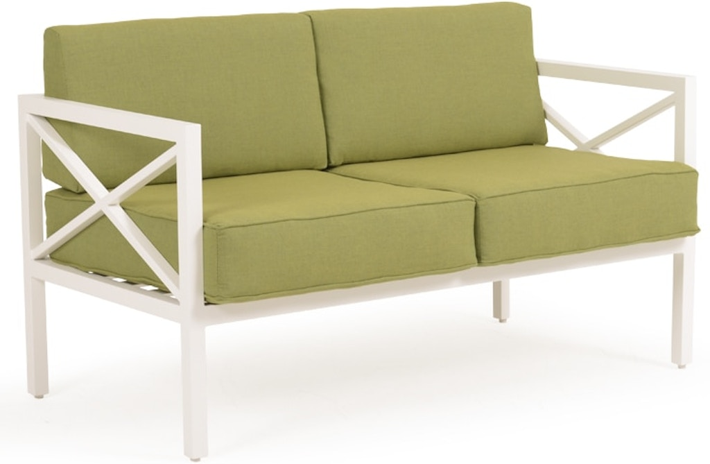 Admirable Watermark Living Outdoor Patio Loveseat Textured White Alphanode Cool Chair Designs And Ideas Alphanodeonline