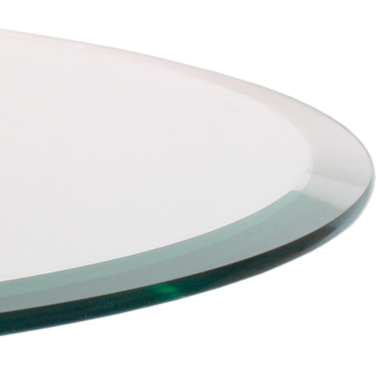 Watermark Living Bevel Edge Glass TABLE TOPS   BEVEL