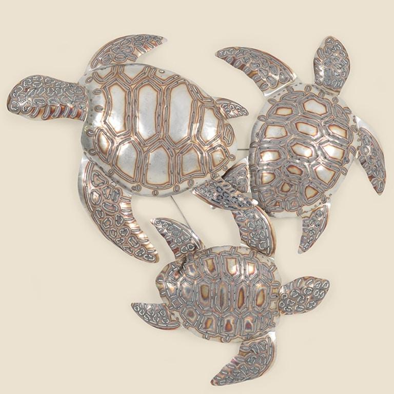 Stainless Steel Sea Turtle Trio