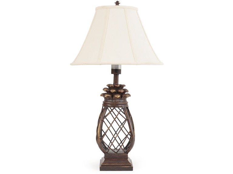 Watermark Living Outdoorpatio Pineapple Cage Outdoor Table Lamp Out