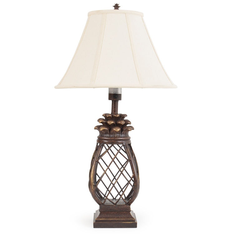 Watermark Living Outdoor/Patio Pineapple Cage Outdoor Table Lamp OUT 681TL  At Gibson Furniture