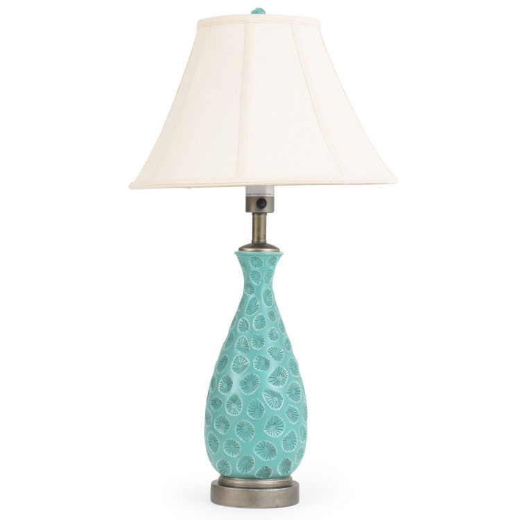 Watermark Living Outdoor/Patio Ceramic Style Outdoor Table Lamp OUT 701TL  At Gibson Furniture