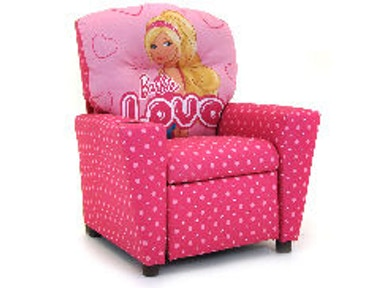 Kidz World Furniture Barbie Recliner 1300-Recliner-Barbie