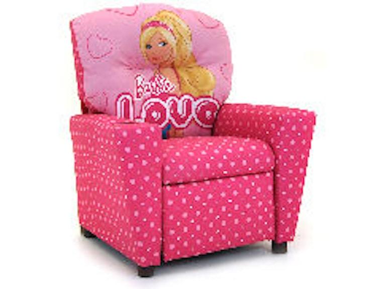 Kidz World Furniture Youth Barbie Recliner 1300-Recliner-Barbie - LA ...