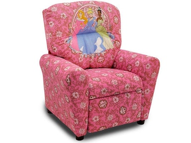 Kidz World Furniture Disney Princess Recliner 1300-Recliner-Disney Princess
