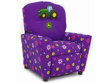 Kidz World Furniture John Deere Girls Recliner 1300-Recliner-John Deere-Girls