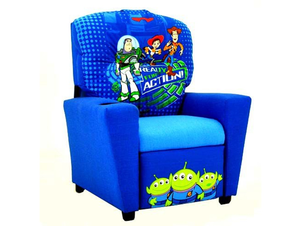 Kidz world furniture youth disney toy story recliner 1300 for Furniture world