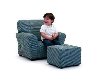 Kidz World Furniture Club Chair with Ottoman 1960-Club Chair-Generic Furniture
