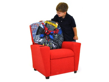 Kidz World Furniture Spiderman Recliner 1300-Recliner-Spiderman