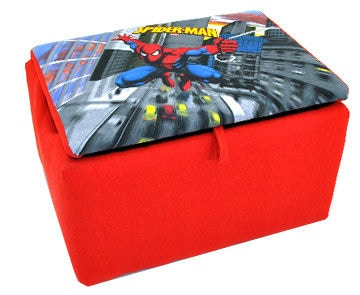 Kidz World Furniture Youth Spiderman Storage Box 1400 Storage Box Spiderman  At Barronu0027s Home Furnishings