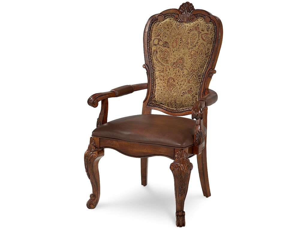 Art Furniture Dining Room Upholstered Back Arm Chair