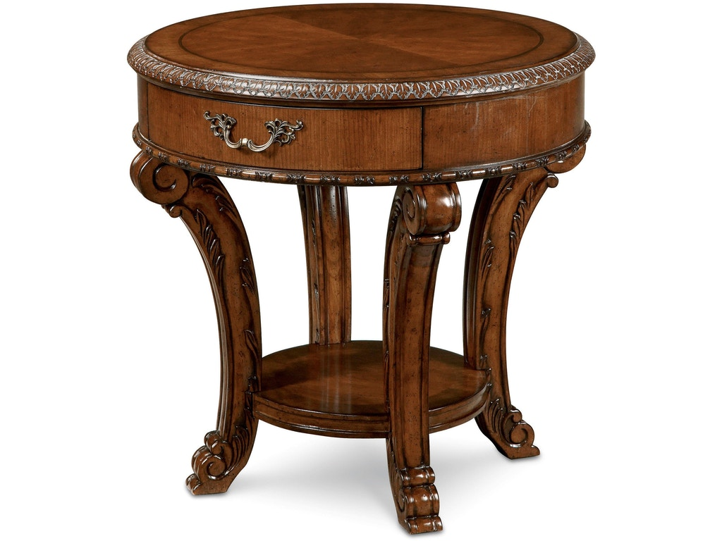 Art Furniture Living Room Round End Table 143303 2606 Norwood Furniture