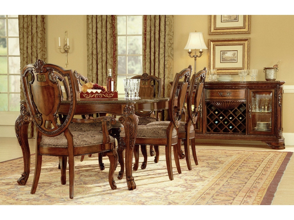 Art furniture dining room leg dining table 2 18in leafs for Furniture yakima wa