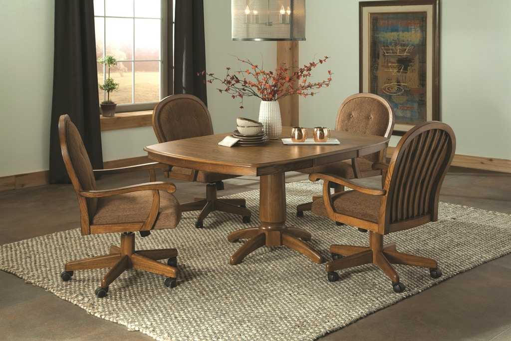 Brooks Furniture Dining Room Caster Swivel Chair 21518c Schmitt Furniture Company New Albany