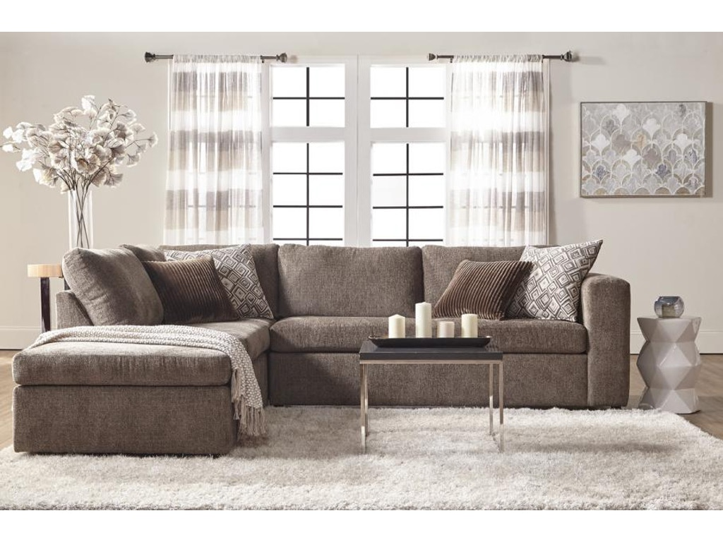 Hughes Furniture Living Room 1100 Sectional Carol House