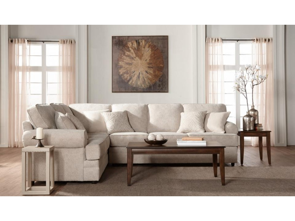 Hughes Furniture Living Room 13100 Sectional Carol House Furniture Maryland Heights And