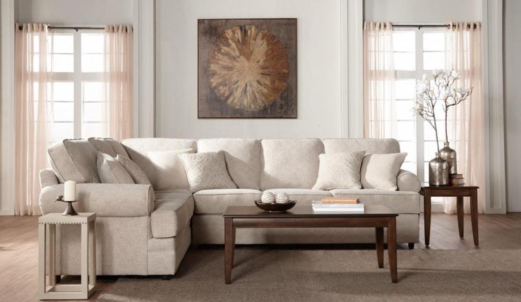 Hughes Furniture Living Room 13100 Sectional Atlantic