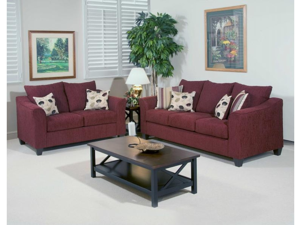 Hughes Furniture Living Room Loveseat 1225ls Carol House Furniture Maryland Heights And