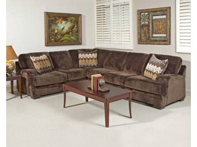 Hughes Furniture Sectional 8800-Sectional