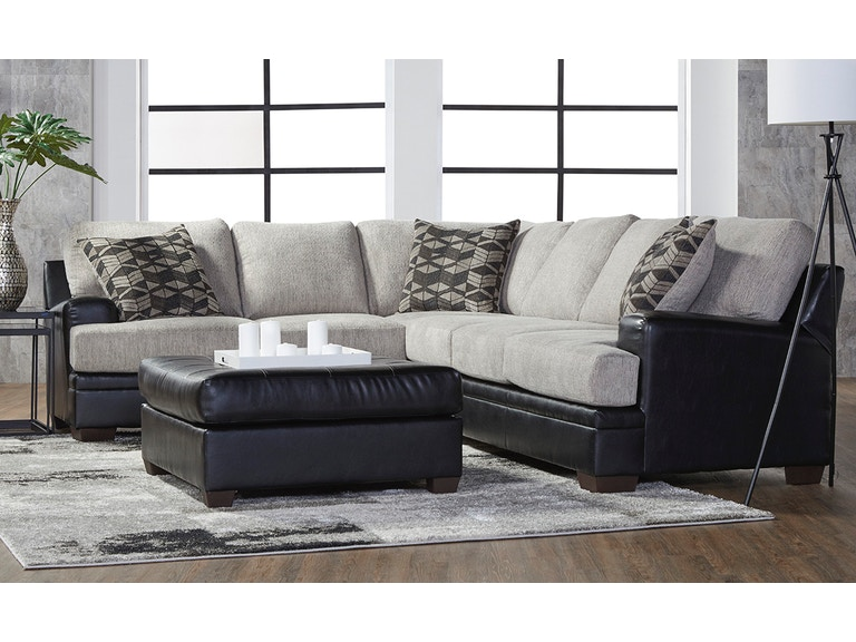 Hughes Furniture Living Room 8850 Sectional - Carol House Furniture ...