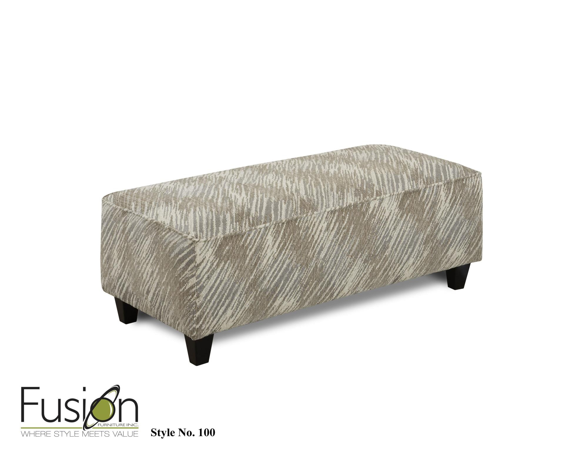 Delightful Fusion Living Room Ottoman 100Desert Retreat Stone At B.F. Myers Furniture
