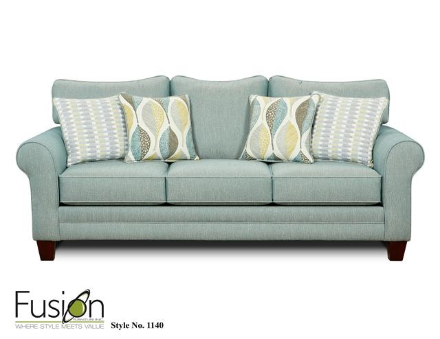 Fusion Sleeper Sofa 1144Decade Aqua