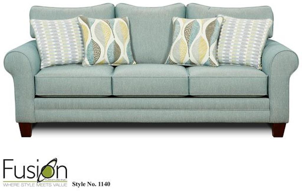 Fusion Living Room Sleeper Sofa 1144decade Aqua B F