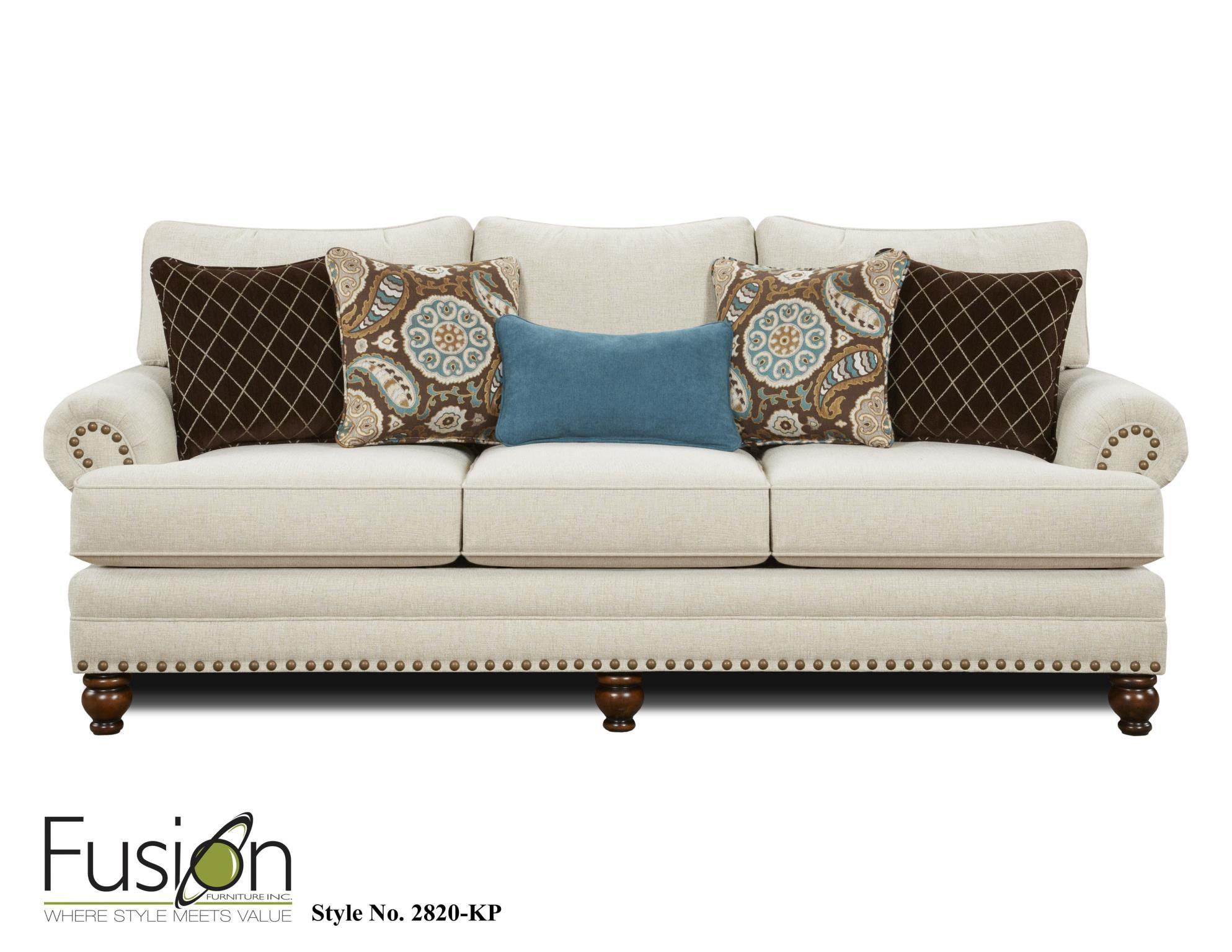 Fusion Sofa 2820 KPAnna White Linen