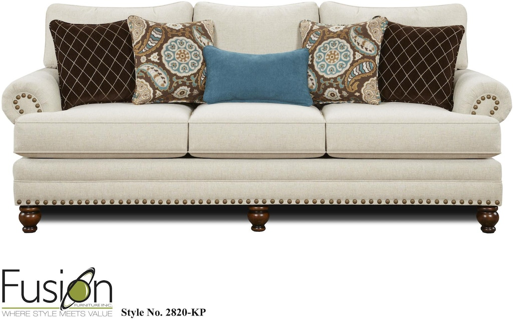 Phenomenal Fusion Living Room Sofa 2820 Kpanna White Linen Hennen Home Interior And Landscaping Ponolsignezvosmurscom