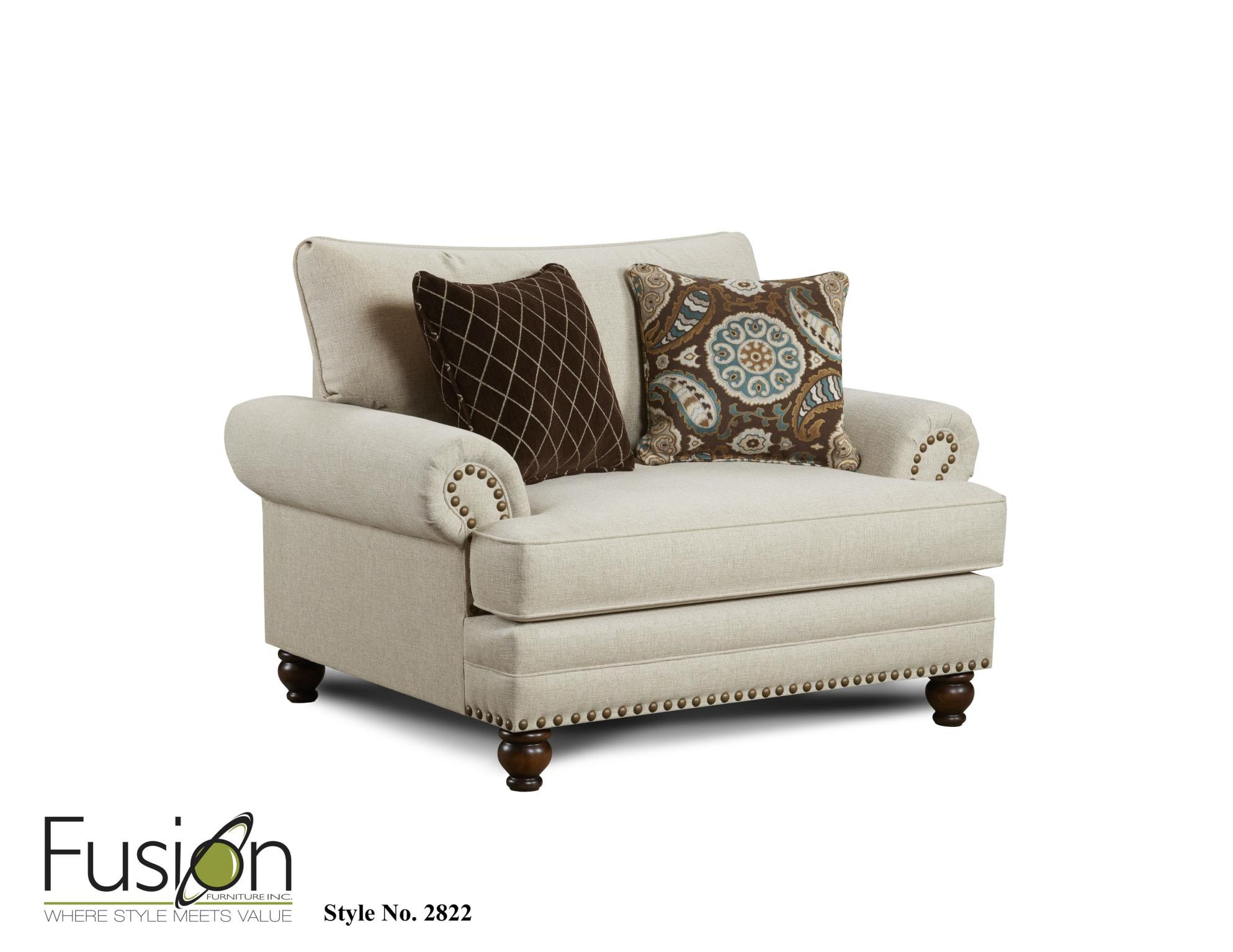 Fusion Chair And A 1/2 2822Anna White Linen