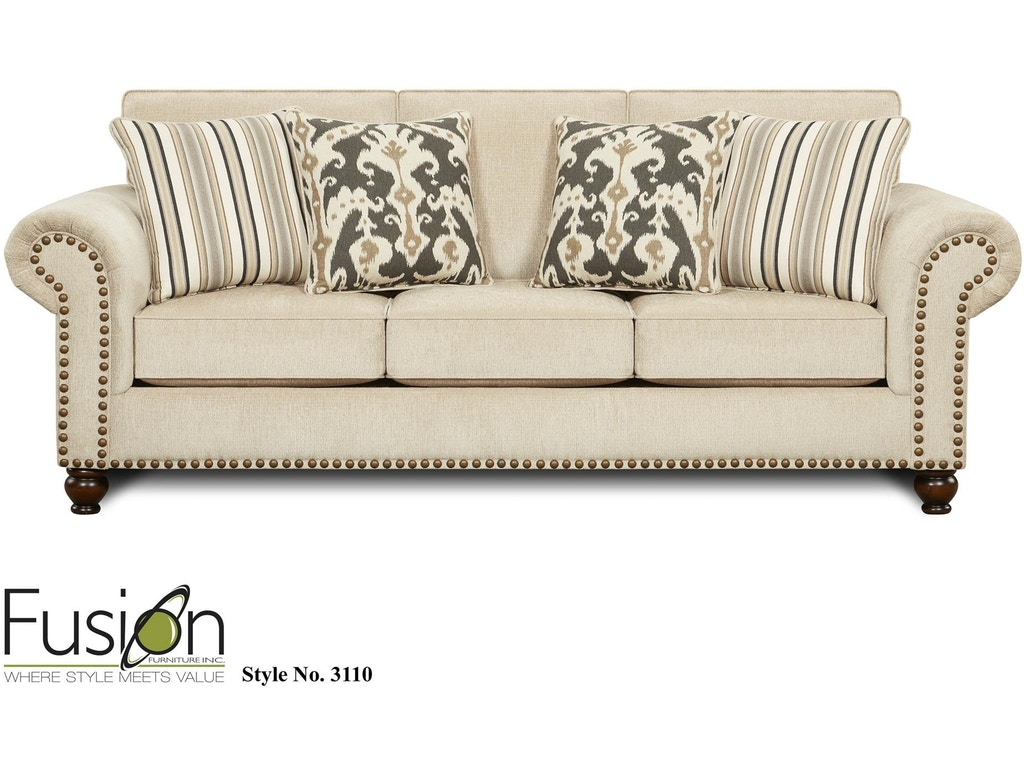 Fusion Living Room Sofa 3110fairly Sand B F Myers