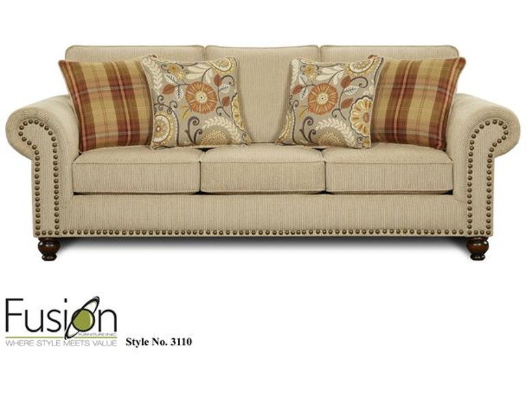 Fusion Living Room Sleeper Sofa 3114out