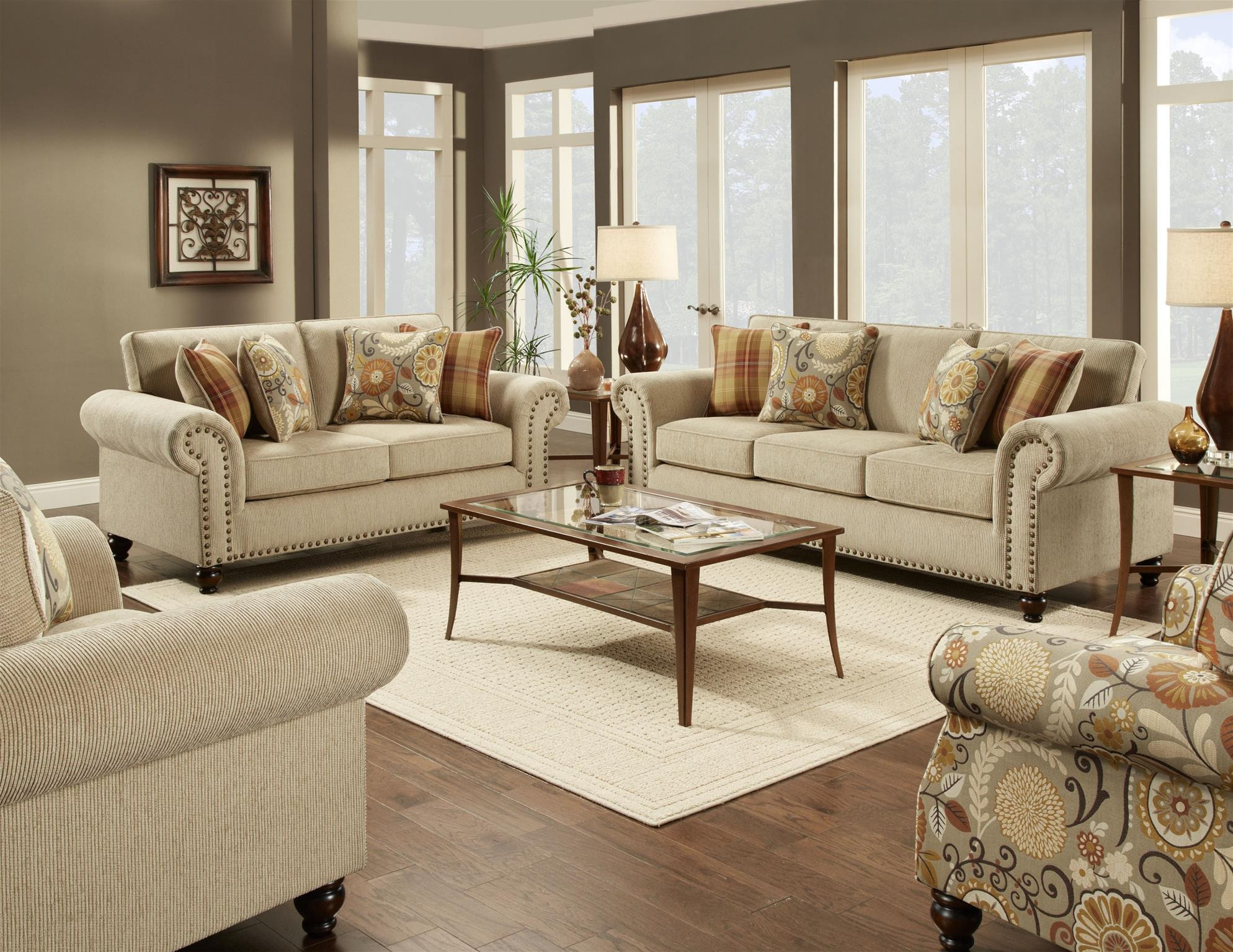 Fusion Living Room Chair 1/2 3112Out West Linen At B.F. Myers Furniture