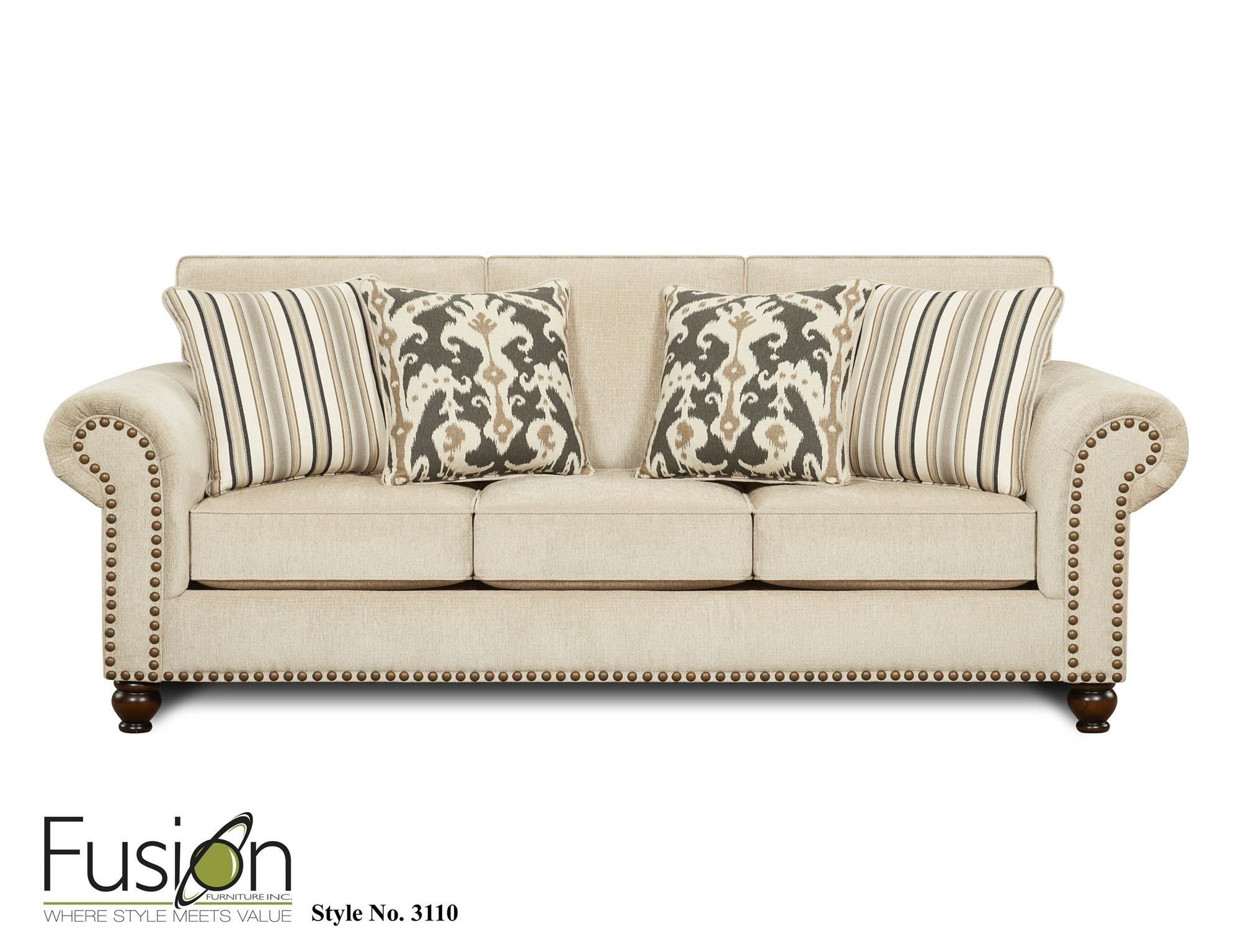 Fusion Living Room Sofa 3110Fairly Sand At B.F. Myers Furniture