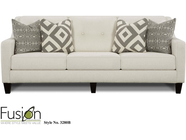 Fusion Living Room Sofa 3280b Sugarshack Glacier Dewey Furniture