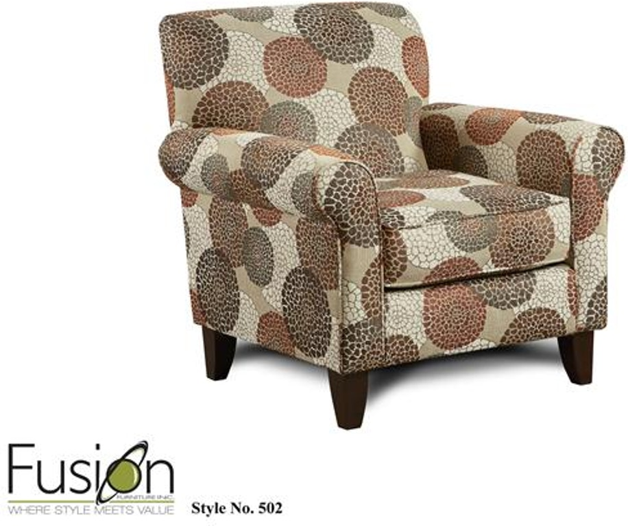 Fusion Living Room Chair 502chrysanthmum Umber B F